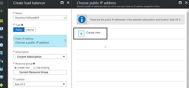 Setup True RDP on another port in Azure ARM for a single VM